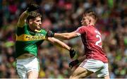 30 July 2017; Eoghan Kerin of Galway tangles with Paul Geaney of Kerry during the GAA Football All-Ireland Senior Championship Quarter-Final match between Kerry and Galway at Croke Park in Dublin. Photo by Piaras Ó Mídheach/Sportsfile