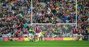 30 July 2017; Kerry goalkeeper Brian Kelly makes a save from this shot on goal by Galway's Sean Armstrong  during the GAA Football All-Ireland Senior Championship Quarter-Final match between Kerry and Galway at Croke Park in Dublin. Photo by Ray McManus/Sportsfile