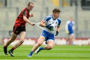 29 July 2017; Darren Hughes of Monaghan in action against Shay Millar of Down during the GAA Football All-Ireland Senior Championship Round 4B match between Down and Monaghan at Croke Park in Dublin. Photo by Piaras Ó Mídheach/Sportsfile