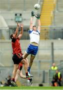 29 July 2017; Darren Hughes of Monaghan in action against Peter Turley of Down during the GAA Football All-Ireland Senior Championship Round 4B match between Down and Monaghan at Croke Park in Dublin. Photo by Piaras Ó Mídheach/Sportsfile