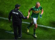 30 July 2017; Kieran Donaghy of Kerry with manager Eamonn Fitzmaurice during the GAA Football All-Ireland Senior Championship Quarter-Final match between Kerry and Galway at Croke Park in Dublin. Photo by Stephen McCarthy/Sportsfile