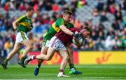 30 July 2017; Eoghan Kerin of Galway is tackled by James O'Donoghue of Kerry during the GAA Football All-Ireland Senior Championship Quarter-Final match between Kerry and Galway at Croke Park in Dublin. Photo by Ramsey Cardy/Sportsfile