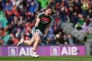30 July 2017; Lee Keegan of Mayo celebrates after scoring his side's first goal of the game during the GAA Football All-Ireland Senior Championship Quarter-Final match between Mayo and Roscommon at Croke Park in Dublin. Photo by Ramsey Cardy/Sportsfile