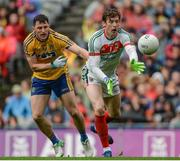 30 July 2017; David Clarke of Mayo in action against Diarmuid Murtagh of Roscommon during the GAA Football All-Ireland Senior Championship Quarter-Final match between Mayo and Roscommon at Croke Park in Dublin. Photo by Piaras Ó Mídheach/Sportsfile