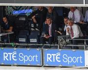 30 July 2017; Members of RTE's match coverage, including Michael Lyster, Joe Brolly, Colm O'Rourke and Pat Spillane watch on during the GAA Football All-Ireland Senior Championship Quarter-Final match between Mayo and Roscommon at Croke Park in Dublin. Photo by Stephen McCarthy/Sportsfile