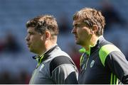 30 July 2017; Kerry selector Maurice Fitzgerald, right, and manager Eamonn Fitzmaurice during the GAA Football All-Ireland Senior Championship Quarter-Final match between Kerry and Galway at Croke Park in Dublin. Photo by Ramsey Cardy/Sportsfile