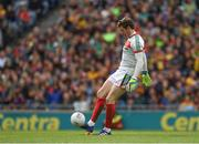 30 July 2017; David Clarke of Mayo takes a short kick out during the GAA Football All-Ireland Senior Championship Quarter-Final match between Mayo and Roscommon at Croke Park in Dublin. Photo by Ray McManus/Sportsfile