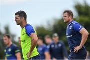 1 August 2017; Rob Kearney, left, and Jamie Heaslip of Leinster during an open training session at Arklow RFC in Arklow, Co Wicklow. Photo by Ramsey Cardy/Sportsfile