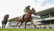 1 August 2017; Housesofparliament, with Barry Geraghty up, cross the line to win the Colm Quinn BMW Novice Hurdle ahead of Morgan, with Keith Donoghue up, who finished second, during the Galway Races Summer Festival 2017 at Ballybrit, in Galway. Photo by Cody Glenn/Sportsfile
