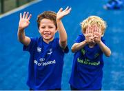 2 August 2017; Jack Clarke, left, and Brian McCann, both aged 8, during a Bank of Ireland Leinster Rugby Summer Camp at Donnybrook Stadium in Donnybrook, Dublin. Photo by David Fitzgerald/Sportsfile