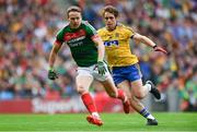 30 July 2017; Andy Moran of Mayo in action against David Murray of Roscommon during the GAA Football All-Ireland Senior Championship Quarter-Final match between Mayo and Roscommon at Croke Park in Dublin. Photo by Ramsey Cardy/Sportsfile