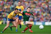 30 July 2017; Andy Moran of Mayo in action against Niall McInerney of Roscommon during the GAA Football All-Ireland Senior Championship Quarter-Final match between Mayo and Roscommon at Croke Park in Dublin. Photo by Ramsey Cardy/Sportsfile