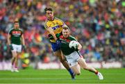 30 July 2017; Colm Boyle of Mayo is tackled by Sean Mullooly of Roscommon during the GAA Football All-Ireland Senior Championship Quarter-Final match between Mayo and Roscommon at Croke Park in Dublin. Photo by Ramsey Cardy/Sportsfile