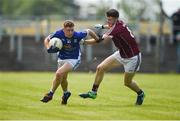 5 August 2017; Ruairi Curran of Cavan in action against Matthias Barrett of Galway during the Electric Ireland All-Ireland GAA Football Minor Championship Quarter-Final match between Cavan and Galway at Páirc Seán Mac Diarmada in Carrick-on-Shannon, Leitrim. Photo by Barry Cregg/Sportsfile