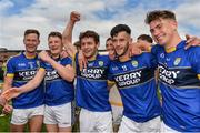 5 August 2017; Kerry players from left, James Walsh, Conor Cox, Tomás Ó Sé, Jeff O'Donoghue and Eamon Kelly celebrate  following the GAA Football All-Ireland Junior Championship Final match between Kerry and Meath at O'Moore Park in Portlaoise, Laois. Photo by Sam Barnes/Sportsfile