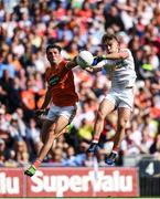 5 August 2017; Mark Bradley of Tyrone in action against Stephen Sheridan of Armagh during the GAA Football All-Ireland Senior Championship Quarter-Final match between Tyrone and Armagh at Croke Park in Dublin. Photo by Daire Brennan/Sportsfile