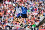5 August 2017; Jack McCarron of Monaghan in action against Philly McMahon of Dublin during the GAA Football All-Ireland Senior Championship Quarter-Final match between Dublin and Monaghan at Croke Park in Dublin. Photo by Ramsey Cardy/Sportsfile