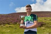 5 August 2017; Cathal Kiely of Offaly after winning the U16 Hurling event during the 2017 M Donnelly GAA All-Ireland Poc Fada Finals in the Annaverna Mountain, Ravensdale, Co Louth. Photo by Piaras Ó Mídheach/Sportsfile