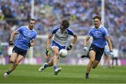 5 August 2017; Darren Hughes of Monaghan in action against Mick Fitzsimons of Dublin during the GAA Football All-Ireland Senior Championship Quarter-Final match between Dublin and Monaghan at Croke Park in Dublin. Photo by Ramsey Cardy/Sportsfile