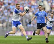 5 August 2017; Kieran Hughes of Monaghan in action against Jack McCaffrey of Dublin during the GAA Football All-Ireland Senior Championship Quarter-Final match between Dublin and Monaghan at Croke Park in Dublin. Photo by Ramsey Cardy/Sportsfile