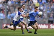 5 August 2017; Con O'Callaghan of Dublin in action against Fintan Kelly of Monaghan during the GAA Football All-Ireland Senior Championship Quarter-Final match between Dublin and Monaghan at Croke Park in Dublin. Photo by Ramsey Cardy/Sportsfile