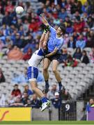 5 August 2017; Brian Fenton of Dublin in action against Darren Hughes of Monaghan during the GAA Football All-Ireland Senior Championship Quarter-Final match between Dublin and Monaghan at Croke Park in Dublin. Photo by Ramsey Cardy/Sportsfile