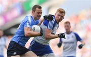 5 August 2017; Dean Rock of Dublin is tackled by Kieran Hughes of Monaghan during the GAA Football All-Ireland Senior Championship Quarter-Final match between Dublin and Monaghan at Croke Park in Dublin. Photo by Ramsey Cardy/Sportsfile