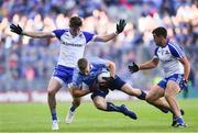 5 August 2017; Eoghan O'Gara of Dublin in action against Darren Hughes, left, and Drew Wylie of Monaghan during the GAA Football All-Ireland Senior Championship Quarter-Final match between Dublin and Monaghan at Croke Park in Dublin. Photo by Ramsey Cardy/Sportsfile