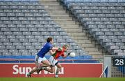 15 April 2012; Conor Mortimer, Mayo, in action against Killian Young, Kerry, in front of an empty section of the Hogan Stand. Allianz Football League Division 1 Semi-Final, Kerry v Mayo, Croke Park, Dublin. Picture credit: Brendan Moran / SPORTSFILE