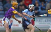 30 July 2002; Conal Keaney, Dublin, in action against Eoin Quigley, Wexford. Leinster U-21 Hurling Final, Dublin v Wexford, O'Moore Park, Portlaoise, Co. Laois. Picture credit; Brendan Moran / SPORTSFILE *EDI*