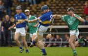 8 August 2002; Martin Maher, Tipperary, in action against Mark Keane, Limerick. Tipperary v Limerick, Munster U-21 Hurling Final, Semple Stadium, Thurles, Co. Tipperary. Picture credit; Damien Eagers / SPORTSFILE *EDI*