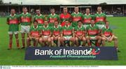 27 July 2002; The Mayo team. Bank of Ireland Football Qualifier Round 4, Mayo v Tipperary, Cusack Park, Ennis, Co. Clare. Picture credit; Damien Eagers / SPORTSFILE