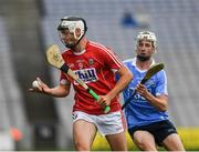 6 July 2017; Sean Twomey of Cork in action against Mark Grogan of Dublin during the All-Ireland U17 Hurling Championship Final match between Dublin and Cork at Croke Park in Dublin. Photo by Ray McManus/Sportsfile