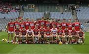 6 July 2017; The Cork squad before  the All-Ireland U17 Hurling Championship Final match between Dublin and Cork at Croke Park in Dublin. Photo by Ray McManus/Sportsfile