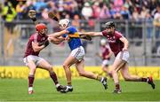 6 August 2017; John O'Dwyer of Tipperary in action against Gearoid McInerney, left, and Adrian Tuohy of Galway during the GAA Hurling All-Ireland Senior Championship Semi-Final match between Galway and Tipperary at Croke Park in Dublin. Photo by Ramsey Cardy/Sportsfile