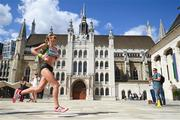 6 August 2017; Claire McCarthy competing in the Women's Marathon event during day three of the 16th IAAF World Athletics Championships at Guildhall in London, England.