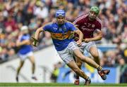 6 August 2017; John McGrath of Tipperary in action against Adrian Tuohy of Galway during the GAA Hurling All-Ireland Senior Championship Semi-Final match between Galway and Tipperary at Croke Park in Dublin. Photo by Sam Barnes/Sportsfile