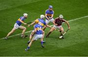 6 August 2017; Daithí Burke of Galway in action against Tipperary players, left to right, Brendan Maher, Séamus Callanan, Michael Breen, and John McGrath, during the GAA Hurling All-Ireland Senior Championship Semi-Final match between Galway and Tipperary at Croke Park in Dublin. Photo by Daire Brennan/Sportsfile