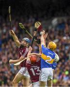 6 August 2017; Conor Cooney and Conor Whelan, 13, of Galway in action against Donagh Maher, 2, and Ronan Maher of Tipperary during the GAA Hurling All-Ireland Senior Championship Semi-Final match between Galway and Tipperary at Croke Park in Dublin. Photo by Ray McManus/Sportsfile