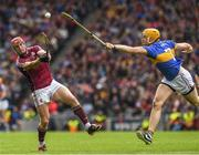 6 August 2017; Conor Whelan of Galway in action against Padraic Maher of Tipperary during the GAA Hurling All-Ireland Senior Championship Semi-Final match between Galway and Tipperary at Croke Park in Dublin. Photo by Ray McManus/Sportsfile