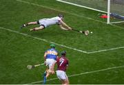 6 August 2017; Colm Callanan of Galway saves a shot from Noel McGrath of Tipperary during the GAA Hurling All-Ireland Senior Championship Semi-Final match between Galway and Tipperary at Croke Park in Dublin. Photo by Daire Brennan/Sportsfile
