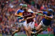 6 August 2017; Adrian Tuohy of Galway is tackled by Patrick Maher of Tipperary during the GAA Hurling All-Ireland Senior Championship Semi-Final match between Galway and Tipperary at Croke Park in Dublin. Photo by Ramsey Cardy/Sportsfile