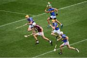 6 August 2017; Jason Flynn of Galway in action against Tipperary players, left to right, Pádraic Maher, James Barry, Donagh Maher, Brendan Maher, during the GAA Hurling All-Ireland Senior Championship Semi-Final match between Galway and Tipperary at Croke Park in Dublin. Photo by Daire Brennan/Sportsfile