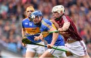 6 August 2017; Patrick Maher of Tipperary is tackled by Gearoid McInerney of Galway during the GAA Hurling All-Ireland Senior Championship Semi-Final match between Galway and Tipperary at Croke Park in Dublin. Photo by Ramsey Cardy/Sportsfile