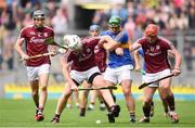 6 August 2017; John Hanbury of Galway is tackled by John O'Dwyer of Tipperary during the GAA Hurling All-Ireland Senior Championship Semi-Final match between Galway and Tipperary at Croke Park in Dublin. Photo by Ramsey Cardy/Sportsfile