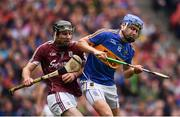 6 August 2017; John McGrath of Tipperary in action against Padraig Mannion of Galway during the GAA Hurling All-Ireland Senior Championship Semi-Final match between Galway and Tipperary at Croke Park in Dublin. Photo by Ramsey Cardy/Sportsfile