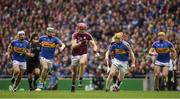 6 August 2017; Jonathan Glynn of Galway with Tipperary players, from left, Ronan Maher, Noel McGrath, Donagh Maher and Padraic Maher in pursuit during the GAA Hurling All-Ireland Senior Championship Semi-Final match between Galway and Tipperary at Croke Park in Dublin. Photo by Ray McManus/Sportsfile