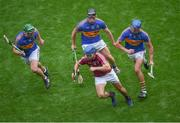 6 August 2017; Johnny Coen of Galway in action against Tipperary players, left to right, John O'Dwyer, Dan McCormack, and Patrick Maher during the GAA Hurling All-Ireland Senior Championship Semi-Final match between Galway and Tipperary at Croke Park in Dublin. Photo by Daire Brennan/Sportsfile