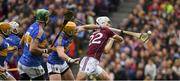 6 August 2017; Jason Flynn of Galway is tackled by Tipperary captain Padraic Maher during the GAA Hurling All-Ireland Senior Championship Semi-Final match between Galway and Tipperary at Croke Park in Dublin. Photo by Ray McManus/Sportsfile