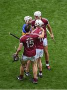 6 August 2017; Galway players, left to right, Conor Cooney, Joe Canning, and Jason Flynn shake hands with Brendan Maher of Tipperary after the GAA Hurling All-Ireland Senior Championship Semi-Final match between Galway and Tipperary at Croke Park in Dublin. Photo by Daire Brennan/Sportsfile